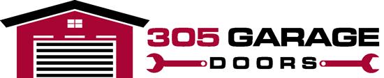 305 garage doors logo